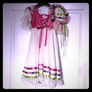 Dance costume sz med child with head band